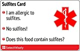Sulfite Allergy Translation Card - Translated in Spanish or any of 4 languages
