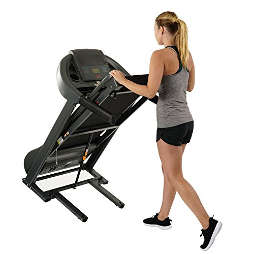 Sunny Health & Fitness T7643 Heavy Duty Walking Treadmill with 350 lb High Weight Capacity, Wide Walking Area and Folding for Storage