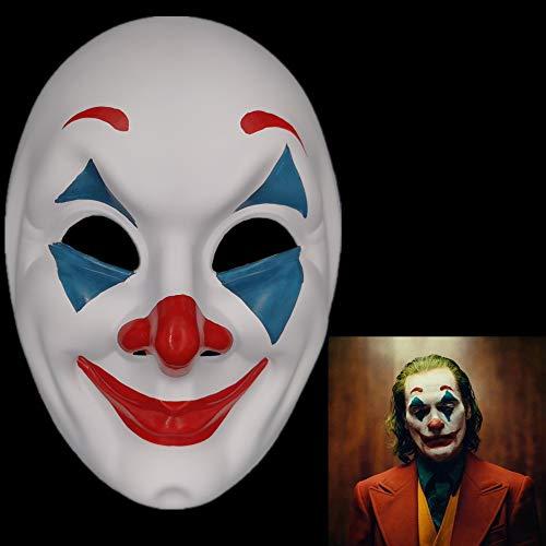 Halloween Clowns Masks (2019 Joker Mask Cosplay Movie Horror Scary Smile Evil Clown Halloween)