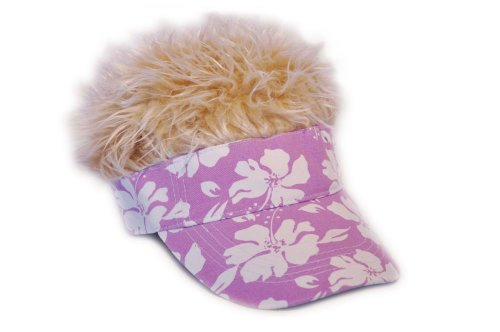 Flair Hair Blonde Hair Visor - Import It All 51e818e6a665
