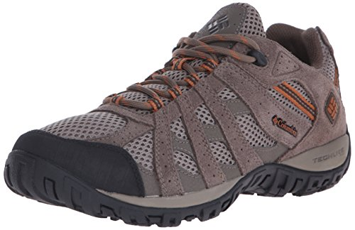 Columbia Men's Redmond Hiking Boot, Pebble, Dark Ginger, 10.5 Wide (Men Boots Hiking For Columbia)