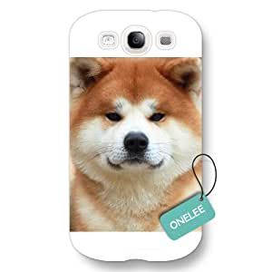 Onelee(TM) - Japan's Pet Akita Dog Samsung Galaxy S3 Hard Plastic Case & Cover - White 10