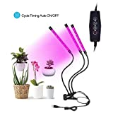 EForces LED Grow Light, 27W Triple Head Plant Grow Light with Flexible Gooseneck and 3 Lighting Modes for Indoor Plants, Gardening, and Greenhouse