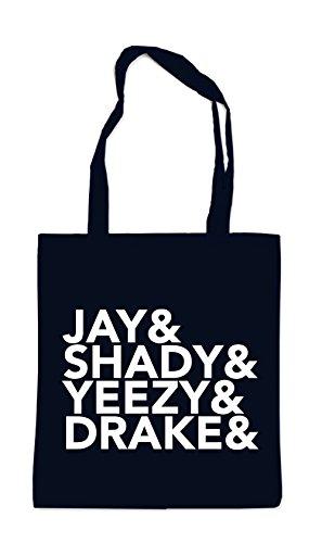 Jay & Shady & Yeezy & Drake Bag Nero Omologato