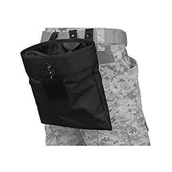 Lancer Tactical Adjustable/Foldable MOLLE Large Dump Pouch - Black ()