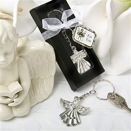 Guardian Angel Metal Key Ring Favor in a Box