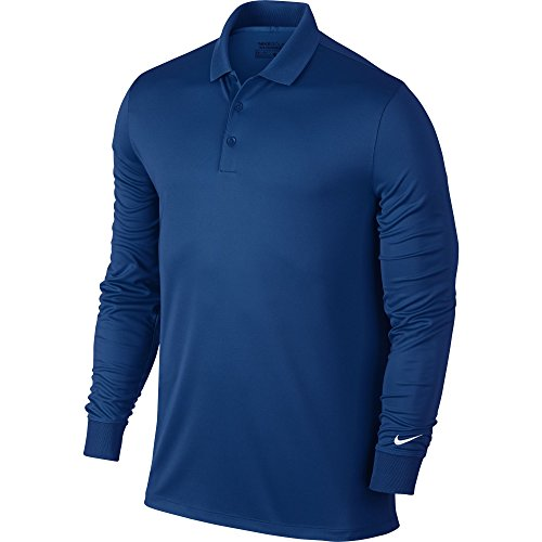 Nike Golf CLOSEOUT Men's Victory Longsleeve Polo- Assorted 725514 (Blue Jay, X-Large) Nike Long Sleeve Tee