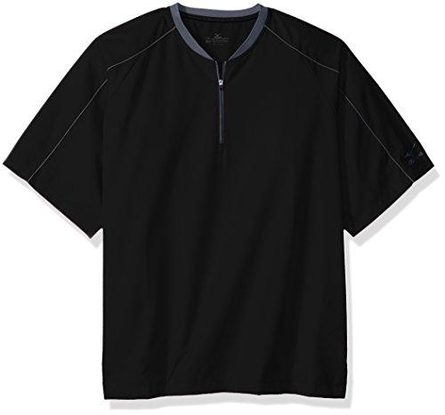 Mizuno Comp Short sleeve Batting Jacket, black, EXTRA EXTRA EXTRA LARGE - Batting Jacket Baseball