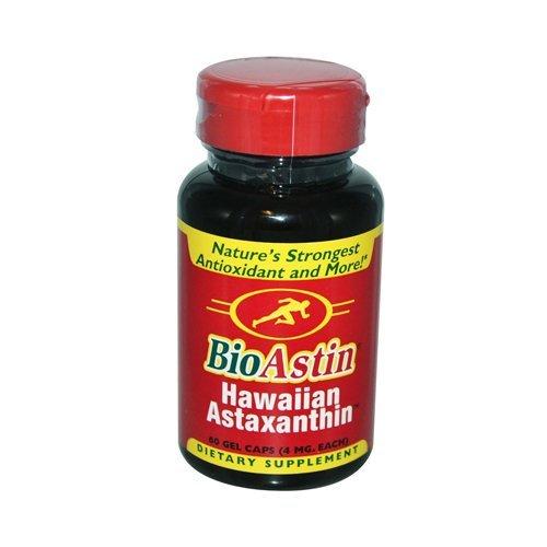 Nutrex Hawaii BioAstin Natural Astaxanthin - 4 mg - 60 Gelatin Capsules by Nutrex Hawaii by Nutrex Hawaii