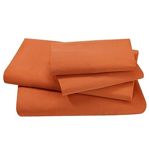 Swan Comfort #1 Bed Sheet Set Highest Quality Brushed Microfiber 1800 Bedding, Hypoallergenic, Full, Orange