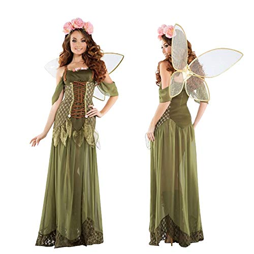 (2018 New Angel Flower Fairy Dress Most Popular Classic Halloween Cosplay Costume Women Green Flower Fairy Princess Costumes)
