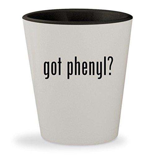 got phenyl? - White Outer & Black Inner Ceramic 1.5oz Shot (Phenyl Core)
