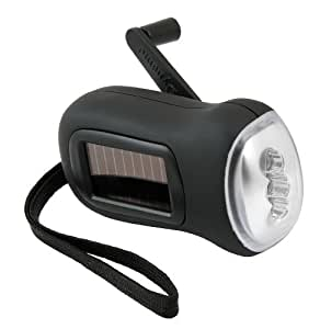 Brookstone Drive - Linterna solar con dinamo (3 LED)