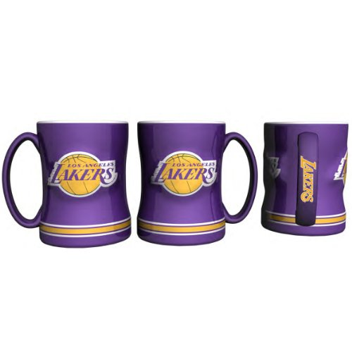 Boelter Brands Los Angeles Lakers Coffee Mug   14Oz Sculpted Relief