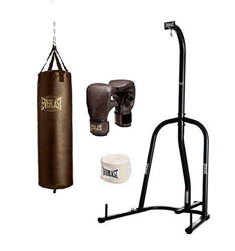 Everlast Single Station Heavy Bag Stand with Heavy Bag Kit – DiZiSports Store