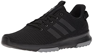 adidas Men's CF Racer TR Sneaker, Core Black, Core Black, Grey Three Fabric, 4 M US