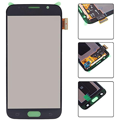 Eachbid LCD Display Touch Screen Digitizer Assembly Replacement with Tools Kit for Samsung Galaxy S6 (All Models) G920X,G920R4,G920I,G920V,G920P,G920W8,G9200 Black
