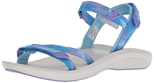 Columbia Sandals Blue - Columbia Women's Big Water Sport Sandal, Blue Sky, White, 7 Regular US