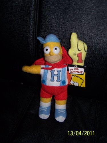 "Homer Simpson Baseball Plush Doll 9"""