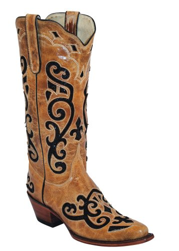 Ferrini Da Donna Western Vitello V-toe Western Boot Cog