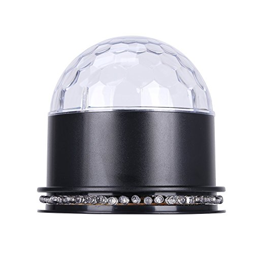 RGB LED Discokugel Licht Magic Music Ball Disco Ball Discokugel Musiksteuerung Magic Partylicht, Schwarz