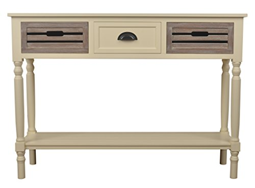 Décor Therapy Melody Three Drawer Wood Console Table, White Melody Review