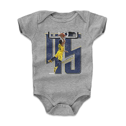 500 LEVEL Donovan Mitchell Baby Clothes, Onesie, Creeper, Bodysuit 3-6 Months Heather Gray - Utah Basketball Baby Clothes - Donovan Mitchell Number B WHT (Utah Jazz Onesie)