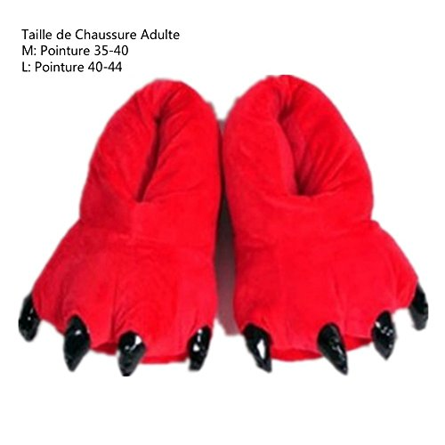 Pyjama Halloween Padgene Femme Déguisement Chaussons Cosplay Ane Adulte Animaux Unisexe Large Homme Rouge pdFTFq