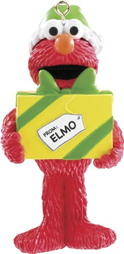 Carlton Heirloom 2014 Elmo with Present Ornament