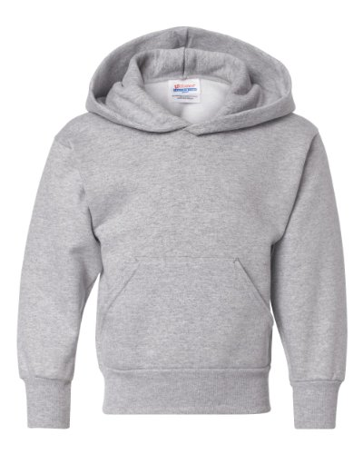 (Hanes Youth ComfortBlend EcoSmart Pullover Hoodie, Light Steel, Large)