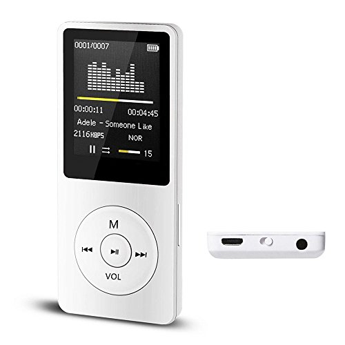 Mpt Players - Junshion- Digital,Compact and Portable MP3/MP4 Player (Max Support 64 GB Micro SD Card) with Photo Viewer, E-Book Reader and Voice Recorder and FM Radio Video Games Movie
