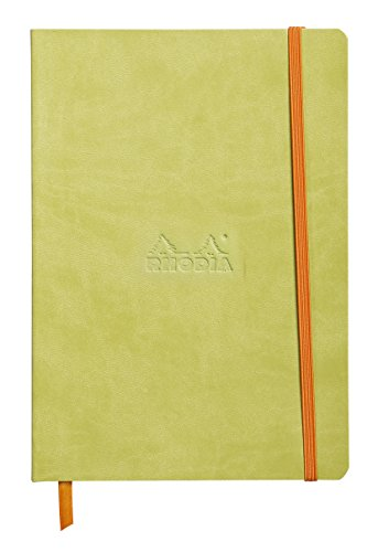 Rhodiarama Rodia Leather Softcover A5 Anise Notebook - Dotted Pages - 5.8 x 8.3 in