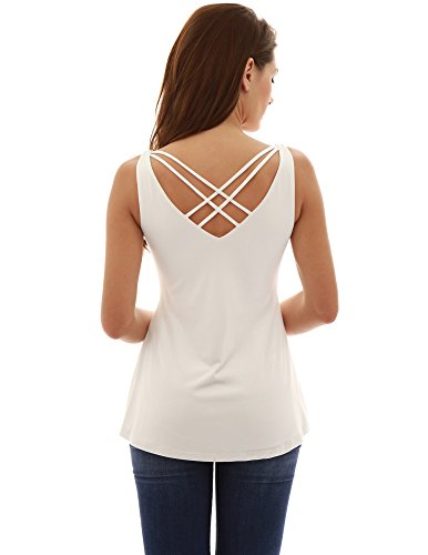 PattyBoutik-Womens-V-Neck-Criss-Cross-Back-Sleeveless-Blouse