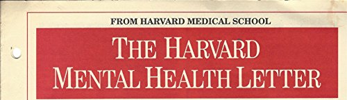 THE HARVARD MEDICAL SCHOOL, MENTAL HEALTH LETTER, DECEMBER 1994, UPDATE ON MOOD DISORDERS, PART I § VARIOUS (11)