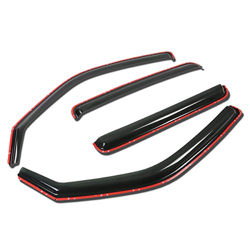 For Honda Ridgeline 4pcs In-Channel Window Visor Deflector Rain Guard