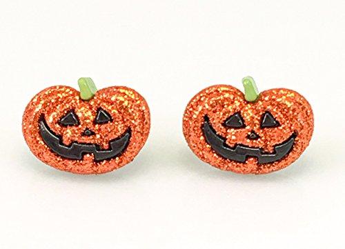 Jack-O-Lantern Pumpkin Earrings ()