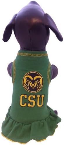 NCAA Old Dominion Monarchs Cheerleader Dog Dress Team Color, Large