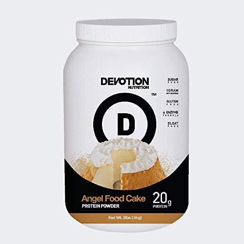Devotion Nutrition Protein Powder, Angel Food Cake, 20 Grams Protein, 1 Gram Mct, Protein Baking Powder, Whey Protein Powder, Low Carb Protein, 2 Pound Tub, 1 Count
