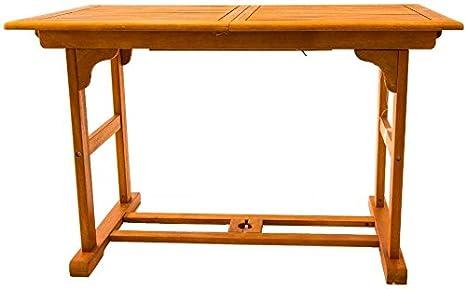 Tavolo Giardino Allungabile Legno.Amicasa Tavolo Da Giardino Allungabile In Legno Rettangolare 120
