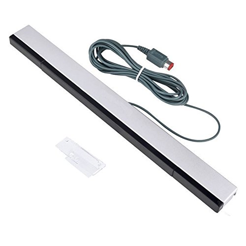 Kimilar Wired Infrared IR Ray Motion Sensor Bar for Nintendo Wii and Wii U Console (Bar Console)