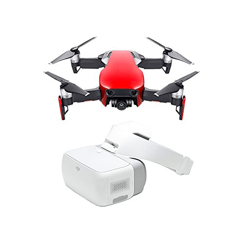 DJI Mavic Air Fly More Combo, & DJI Goggles (Flame Red)