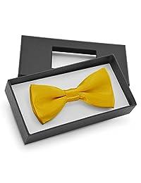 Brooben Boys Kids Bowtie Pre tied Banded Satin Adjustable Bow Tie BT1 Egg Yellow
