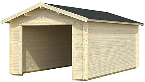 Box Casitas de madera caseta de jardín de madera de abeto (34 mm) – cm 350 x 530 cm – italfrom21: Amazon.es: Hogar