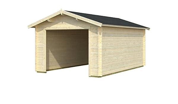 Box Casitas de madera caseta de jardín de madera de abeto (34 mm) - cm 350 x 530 cm - italfrom21: Amazon.es: Hogar
