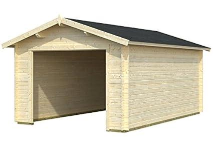 Box Casitas de madera caseta de jardín de madera de abeto (34 mm) –