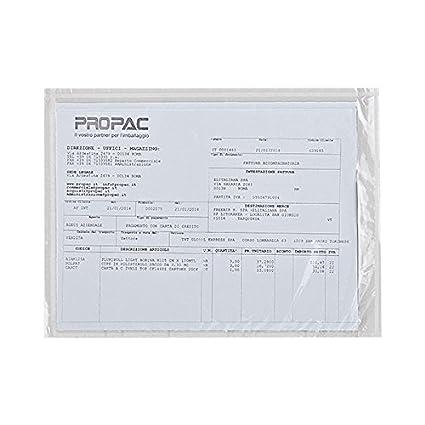 Propac Z-PAC1 Pac-List Portadocumenti Neutre, A4 Piegato in 6, 12 x 8.5 cm, Set di 1000