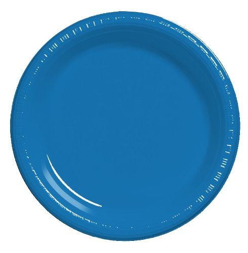 (Creative Converting Touch of Color 20 Count Plastic Lunch Plates, True Blue)