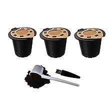 24K Gold Reusable Nespresso Capsules (3-pack) | Compatible with Essenza, Inissia, Milk, Citiz, Gran Maestra, Maestria, Pixe, Lattissima, Concept and Le Cube