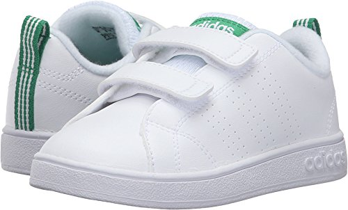 san francisco 57552 db14e Galleon - Adidas Kids VS Advantage Clean Sneaker, WhiteWhiteGreen, 7  Medium US Toddler
