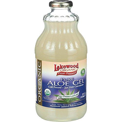 - Lakewood, Organic Aloe Vera Gel Juice, 32 Oz